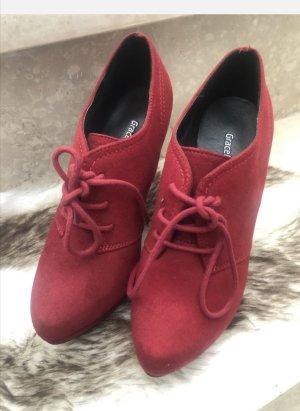 Graceland Stivaletto stringato rosso scuro