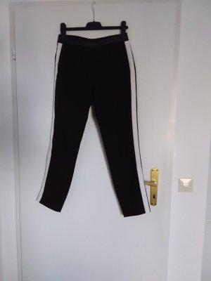 someday pantalón de cintura baja negro-blanco puro