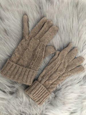Gebreide handschoenen lichtbruin