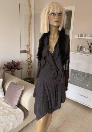 Preziosa Manteau en tricot brun foncé-noir