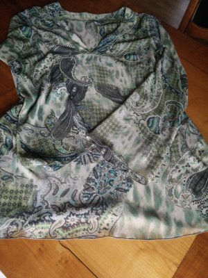 Apart Tunic Blouse green grey polyester