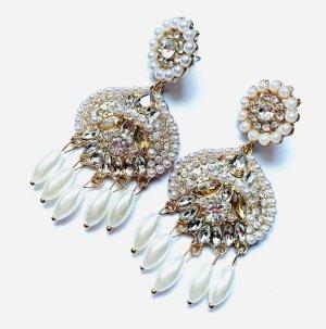 Schicke Vintage Ohrringe White Wedding Abendkleid