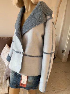 Together Oversized Jacket azure-slate-gray