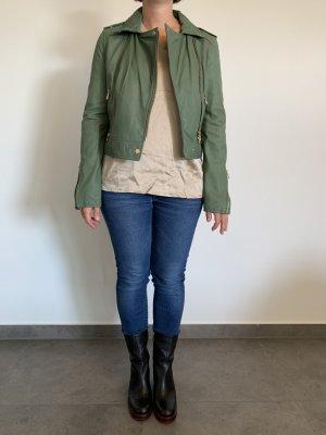 Oakwood Leather Jacket khaki leather