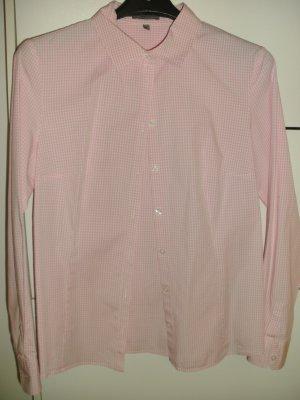 Schicke weiß-rosa karierte Bluse