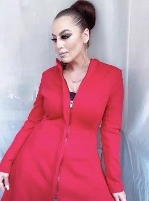 schicker a-linie mantel in rot, ausgestellt, tailliert, neupreis 59€
