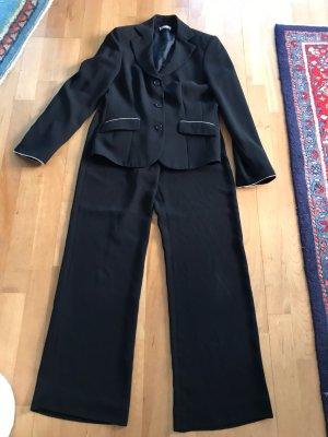 Savannah Traje de pantalón azul oscuro-blanco puro