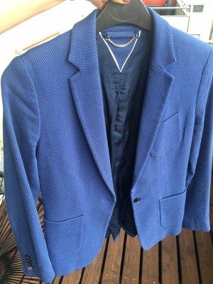 Massimo Dutti Sweat Blazer blue