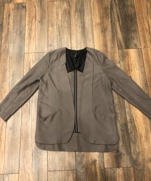 Schicker Blazer große Größe 44 Farbe grau/grün/ beige
