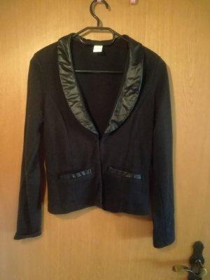 Vila Blazer en cuir noir coton