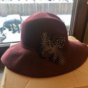 Barbour Sombrero de lana burdeos Lana