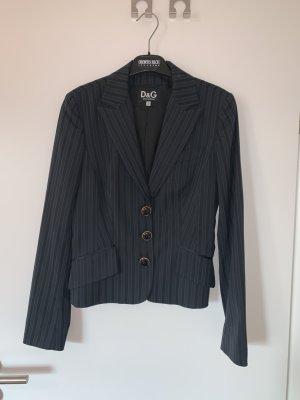 Dolce & Gabbana Jersey blazer zwart-donkergrijs Polyester