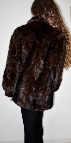 Abrigo de piel marrón oscuro Pelaje