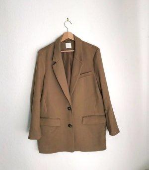 Schicker eleganter Blazer oversized Longblazer H&M Gr. M camel beige