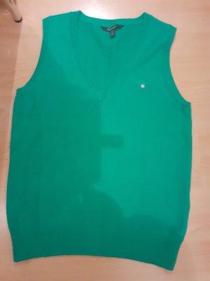 Gant Sweter bez rękawów z cienkiej dzianiny zielony-trawiasty