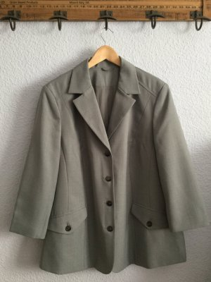 Atelier Creation Blazer long gris clair polyester