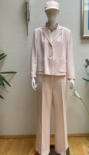 Dibari Tailleur pantalone rosa pallido