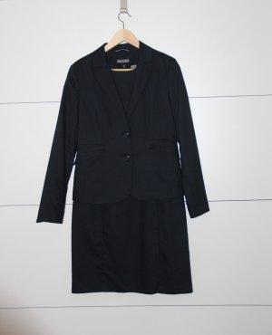 Schicker Hosenanzug Kostüm dunkelblau Blazer & Kleid