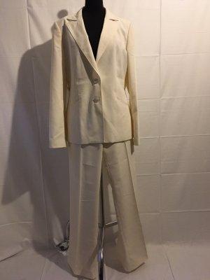 NIAMA Traje de pantalón blanco puro