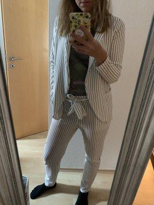 Mioni Italia Tailleur-pantalon blanc-noir