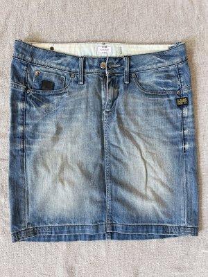G-Star Jeansowa spódnica niebieski-stalowy niebieski