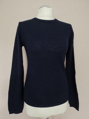 Pullover in cashmere blu scuro Lana