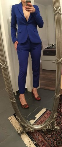 Zara Business Suit blue polyester