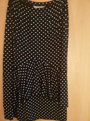 Livre Spódnica z falbanami czarny-biały Bawełna