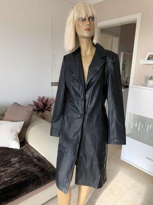 Uncle Sam Leather Coat black
