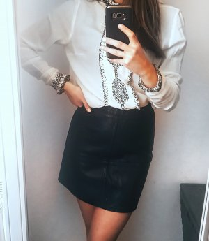 New Look Faux Leather Skirt black