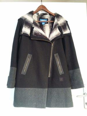 Adidas Abrigo con capucha negro-gris tejido mezclado