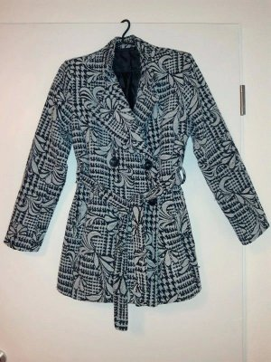 Cappotto corto nero-bianco Cotone