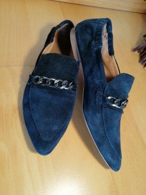 Pantofola blu scuro Scamosciato