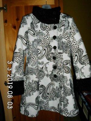 no name Cappotto in lana nero-bianco Tessuto misto