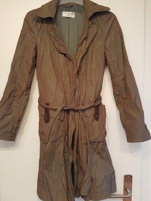 Krótki płaszcz oliwkowy Poliester