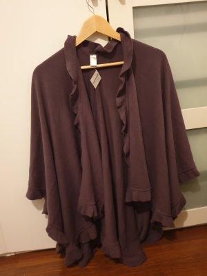 Poncho grey lilac-dark violet