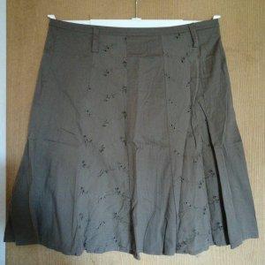 Falda Godets marrón-marrón oscuro