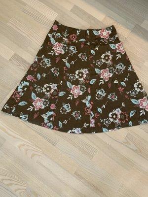 Zero Collection Falda de lino multicolor