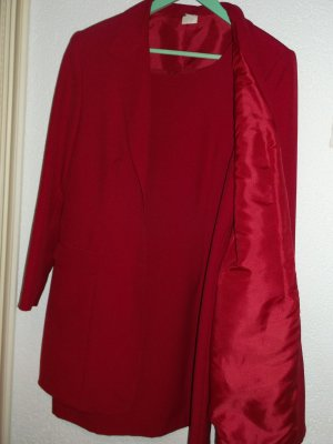 Woven Twin Set red polyester