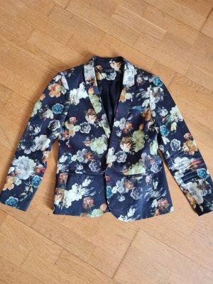 Schicker Sakko Blazer Mit Blumen aus Baumwolle, M