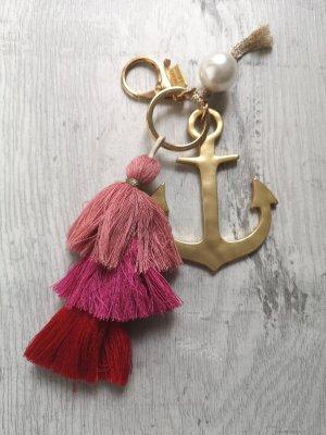 Schicker Schlüssel-/Taschenanhänger Anker mit Quaste und Perle von Sweet de luxe NEU