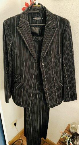 Authentic Clothing Company Garnitur w prążki czarny-biały