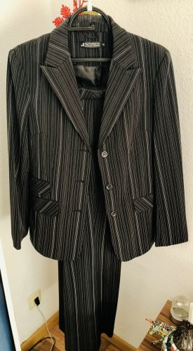 Authentic Clothing Company Pinstripe Suit black-white