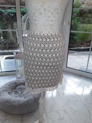 Orsay Jupe tricotée blanc cassé