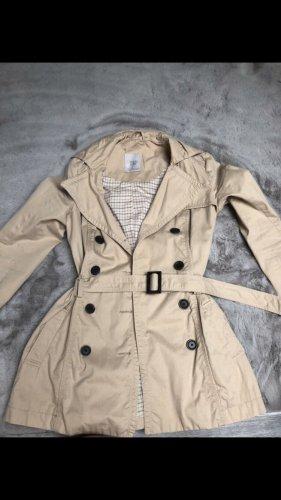 Schicker Trenchcoat Mantel in beige