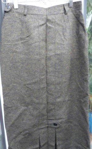 Lodenfrey Gonna di lana verde bosco-grigio scuro