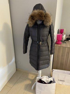 Moncler Manteau en duvet gris anthracite