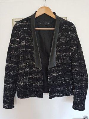 Zara Woman Blazer en laine noir-blanc laine