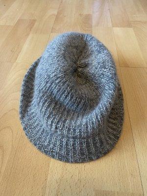H&M Woolen Hat silver-colored