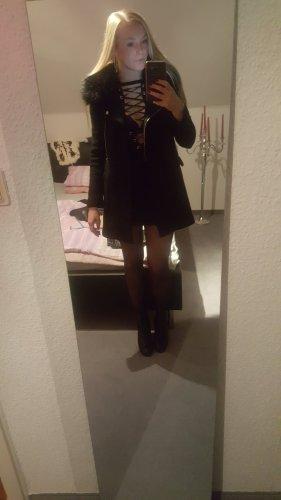 Zara Cappotto in lana nero